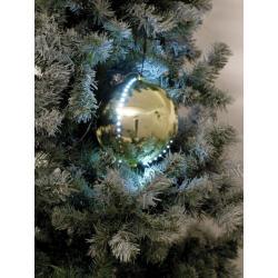 Sněhové LED koule, 8 cm, zlatá, 5 ks
