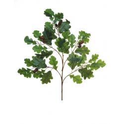 Dubové listí s žaludy, 6ks