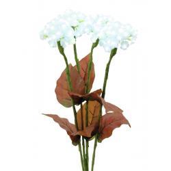 Hortenzie s květy, bílé, 100 LEDs